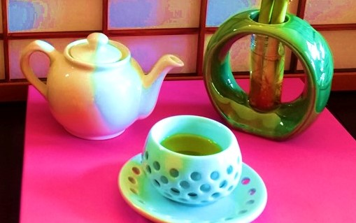pot-of-green-tea-and-korean-tea-cup