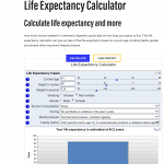 Bankrate's Life expectancy calculator
