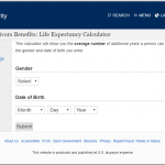 social security life expectancy calculator